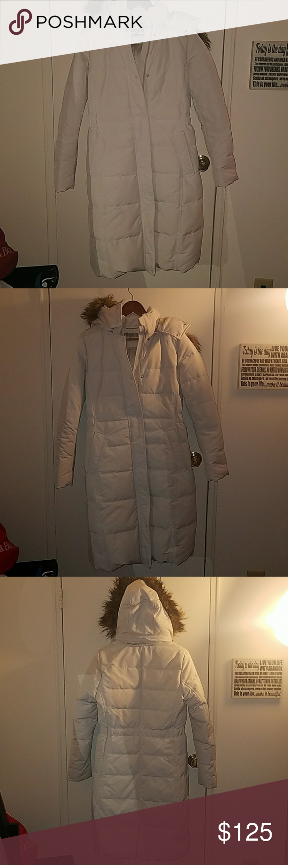 White Uniqlo coat Brand Uniqlo Size S Color white/ivory