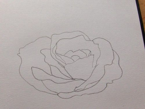 so zeichne ich eine rose monika kunze bye in 2019 rose malen malen und zeichnen. Black Bedroom Furniture Sets. Home Design Ideas