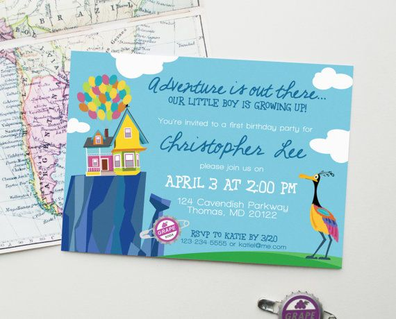 Design Fee UP Birthday Party Custom Printable Invitation Inspired