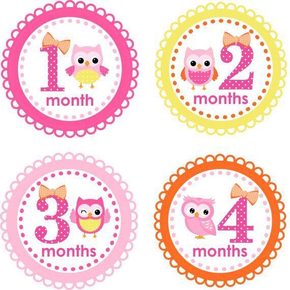 Pegatinas Recien Nacidos 1 2 3 4 Meses Baby Month Stickers Baby Milestone Stickers Month Stickers