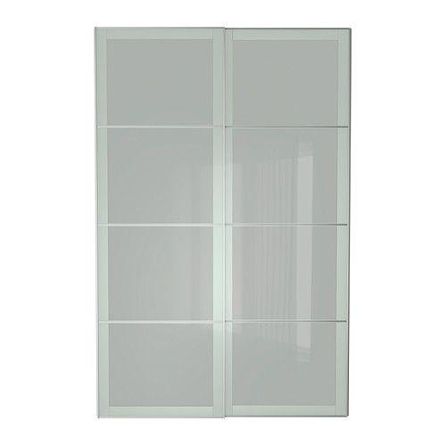 Sekken Pair Of Sliding Doors Frosted Glass Doors Sliding Door