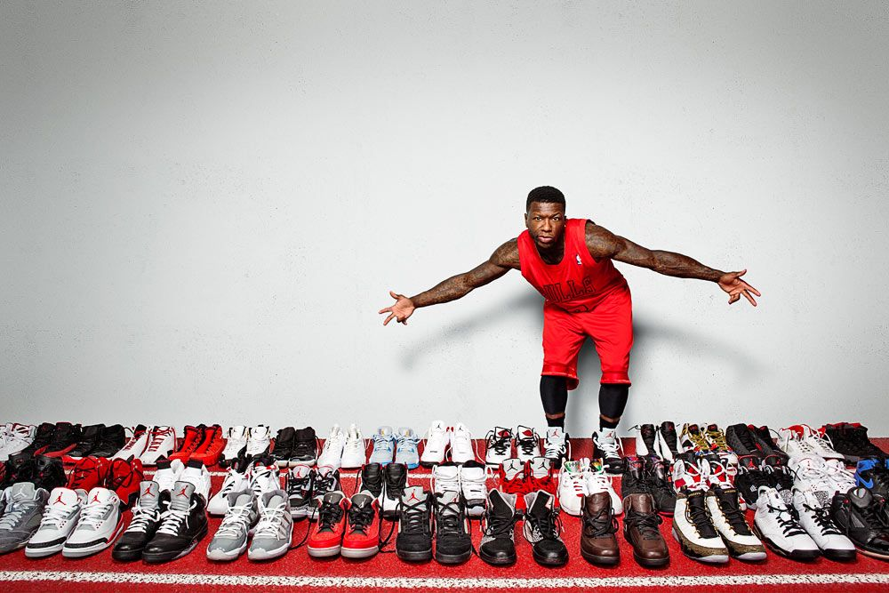 Nate Robinson's Jordan Shoes for ESPN Magazine   BRNYRK Retouching