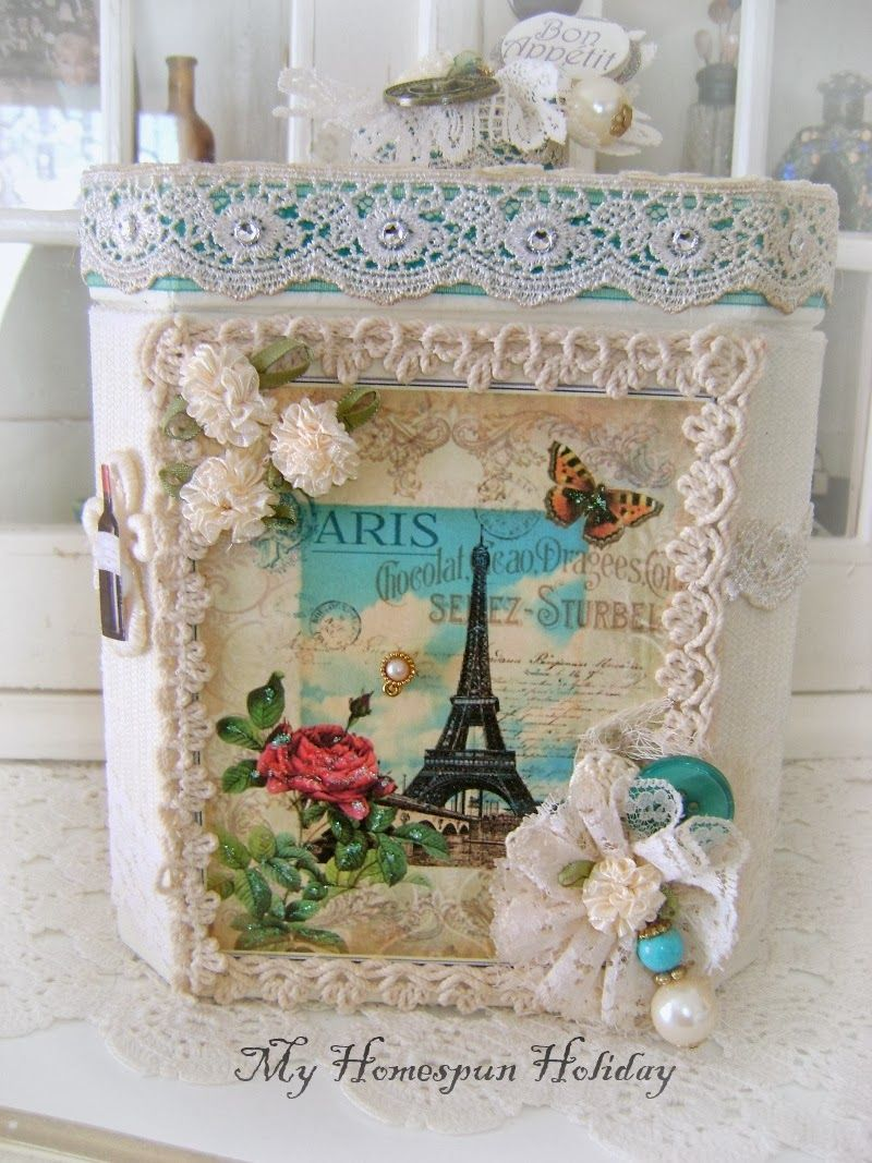 My Homespun Holiday: Altered boxes