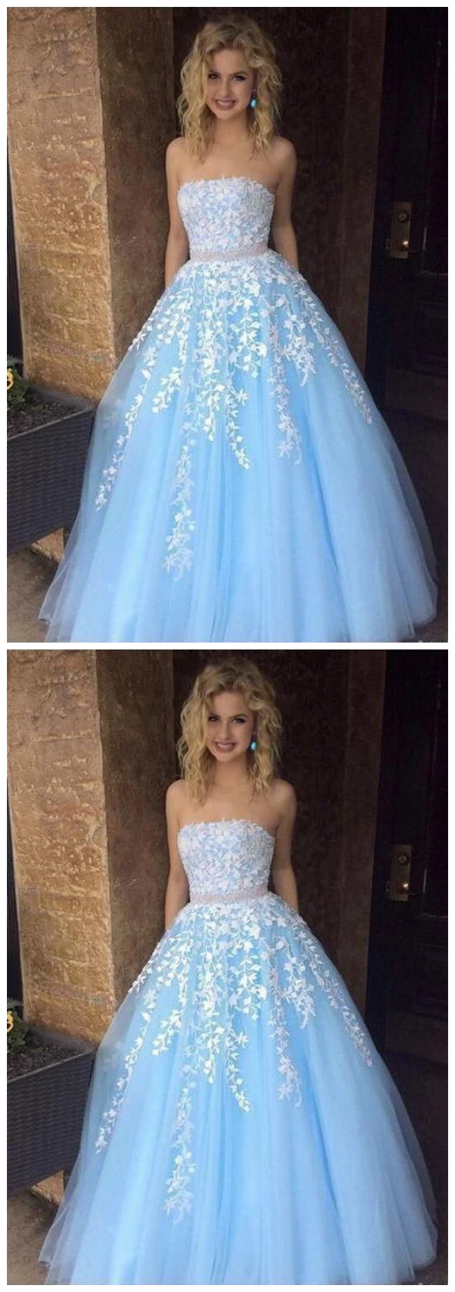 New Long Prom Dresses With Applique And Beading 8th Graduation Dress School Dance Winter Formal Dress In 2021 Prom Dresses Sleeveless Prom Dresses Long Prom Dresses Short [ 1866 x 658 Pixel ]