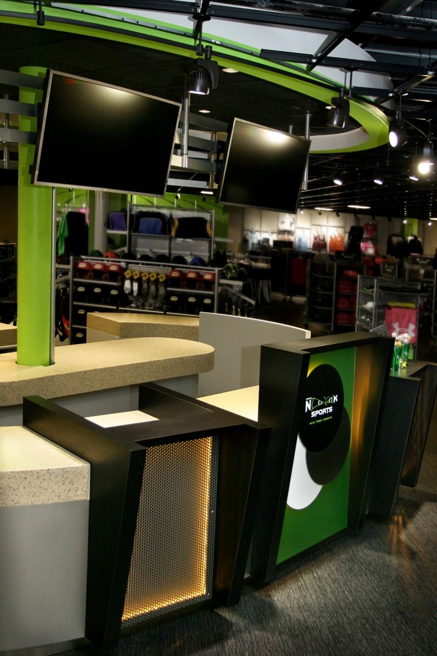 Meganite Solid Surface Countertops for Spooky Nook Sports
