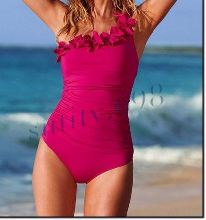 New Fashion women's Ruffle One Shoulder One Piece Swimsuit Bathing Suit SC1059   eBay