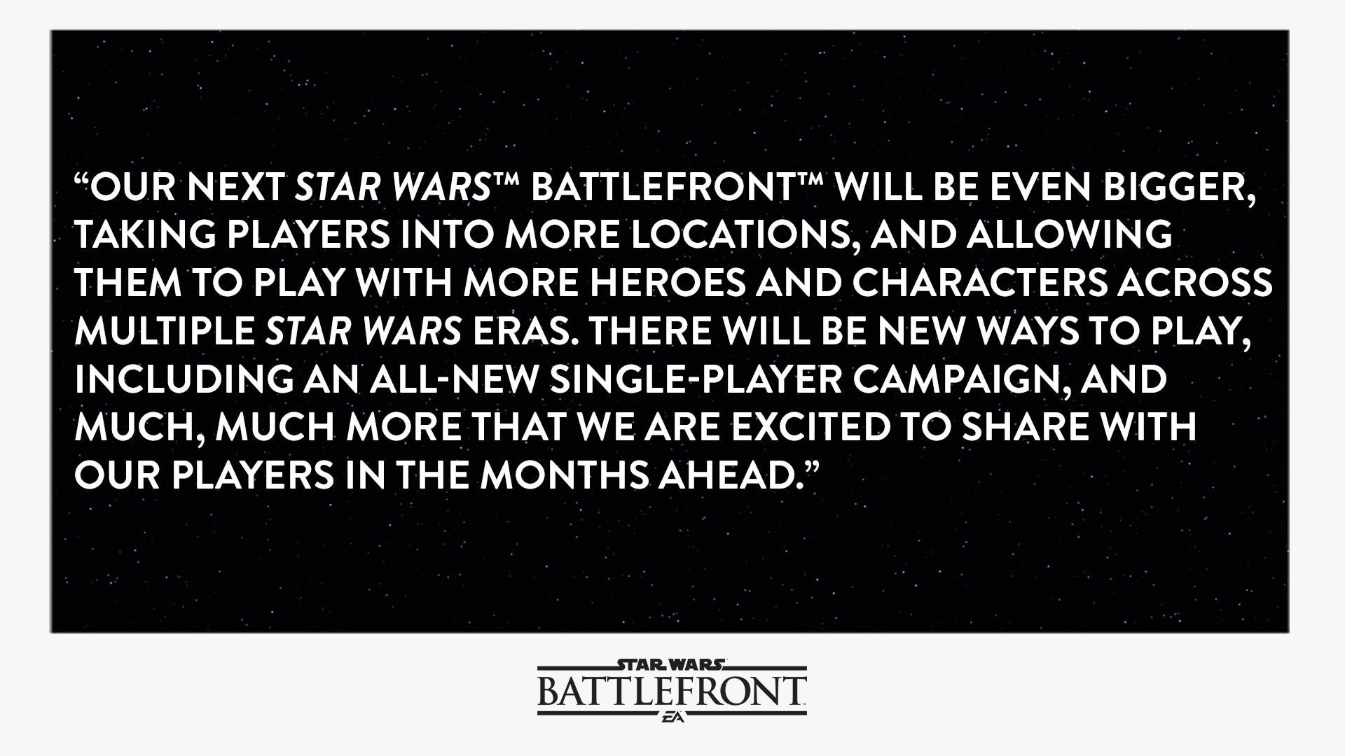 Star Wars Battlefront 2 Will Have A Single Player Campaign Plus Other New Details