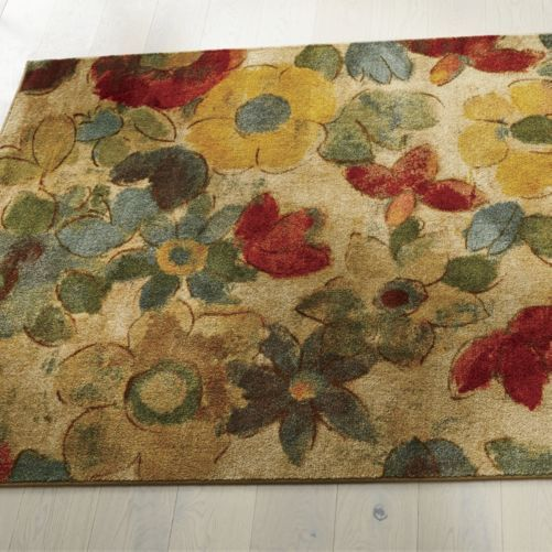 Marvelous Sunny Garden Floral Rug From Through The Country Door®   NI43281