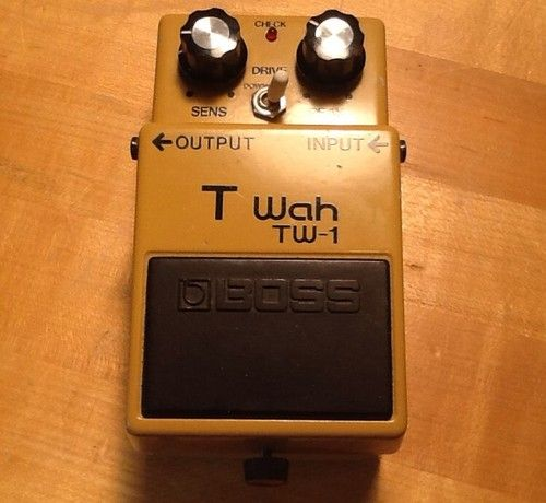 Boss Tw 1 Touch Wah Vintage Guitar Pedal Auto Wah Envelope Filter T Wah Tw1 Guitar Pedals Vintage Guitars Boss Pedals