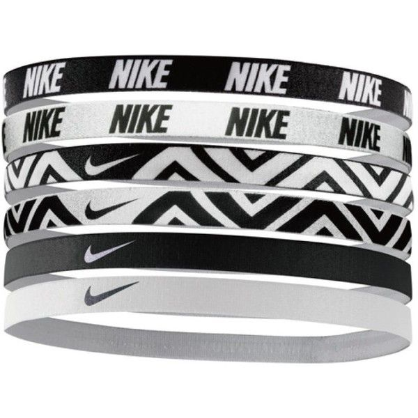 Nike Printed Headbands Assorted 6pk ($14) ❤ liked on Polyvore featuring accessories, hair accessories, head wrap headband, nike, sport headbands, hair band headband and headband hair accessories