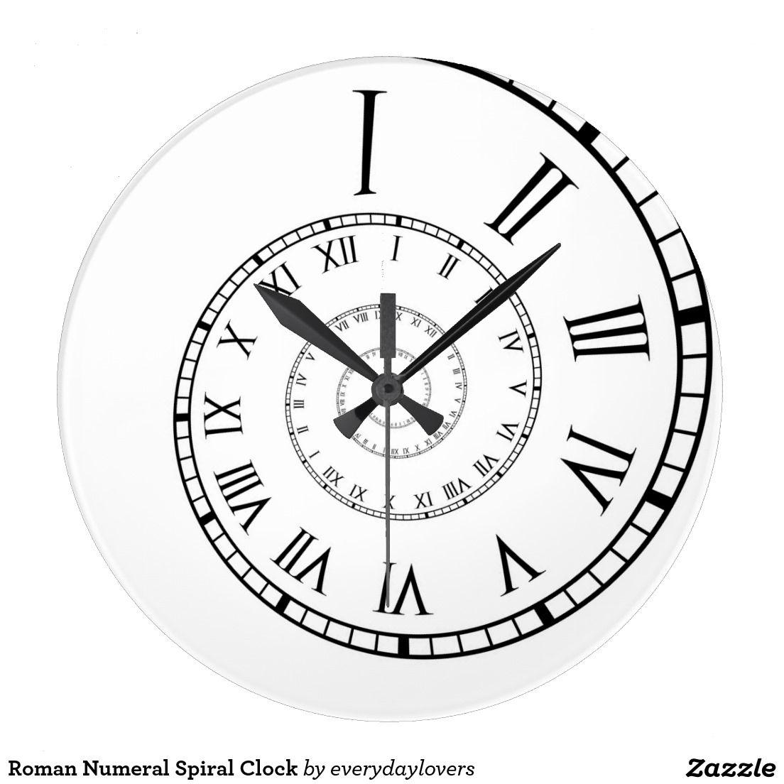 Roman Numeral Spiral Clock