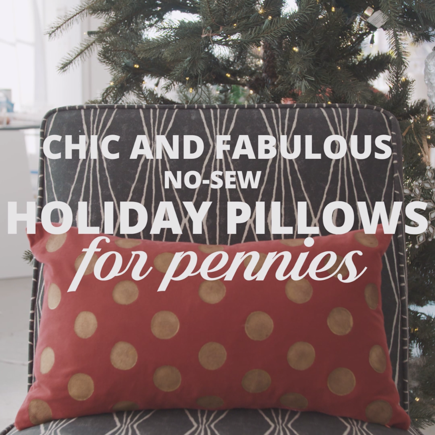 Upscale DIY Holiday Pillows & Upscale DIY Holiday Pillows | Modern Sewing Patterns | Pinterest ... pillowsntoast.com