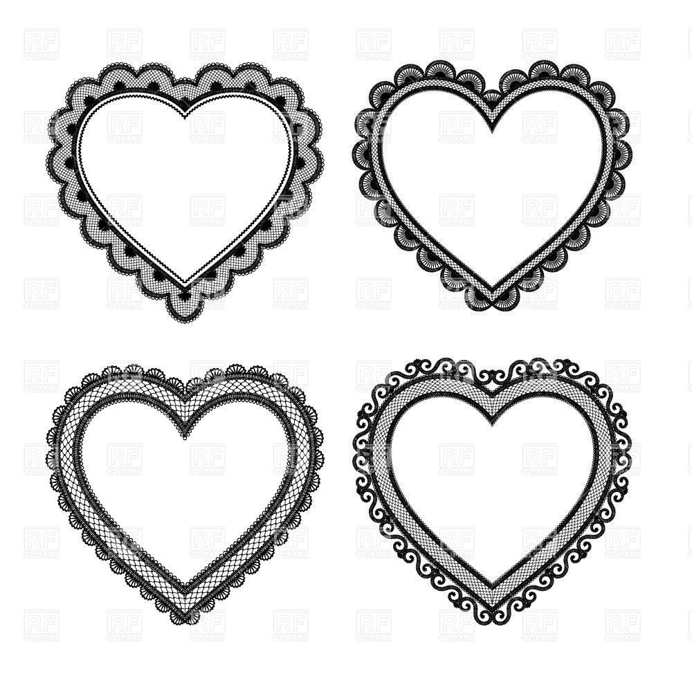 40+ Valentine Heart Clipart Black And White