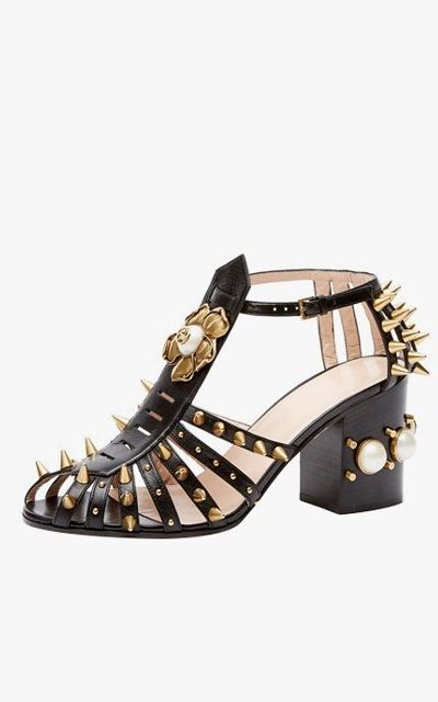 e4a19ae6f Here s Your Definitive Summer Sandal Shopping Guide. Gucci Kendall leather  studded sandals