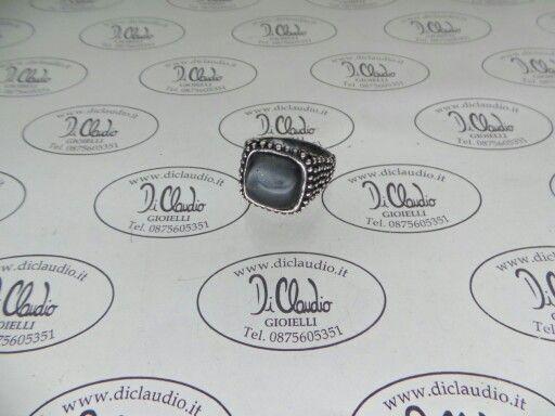 Anello argento e gemma