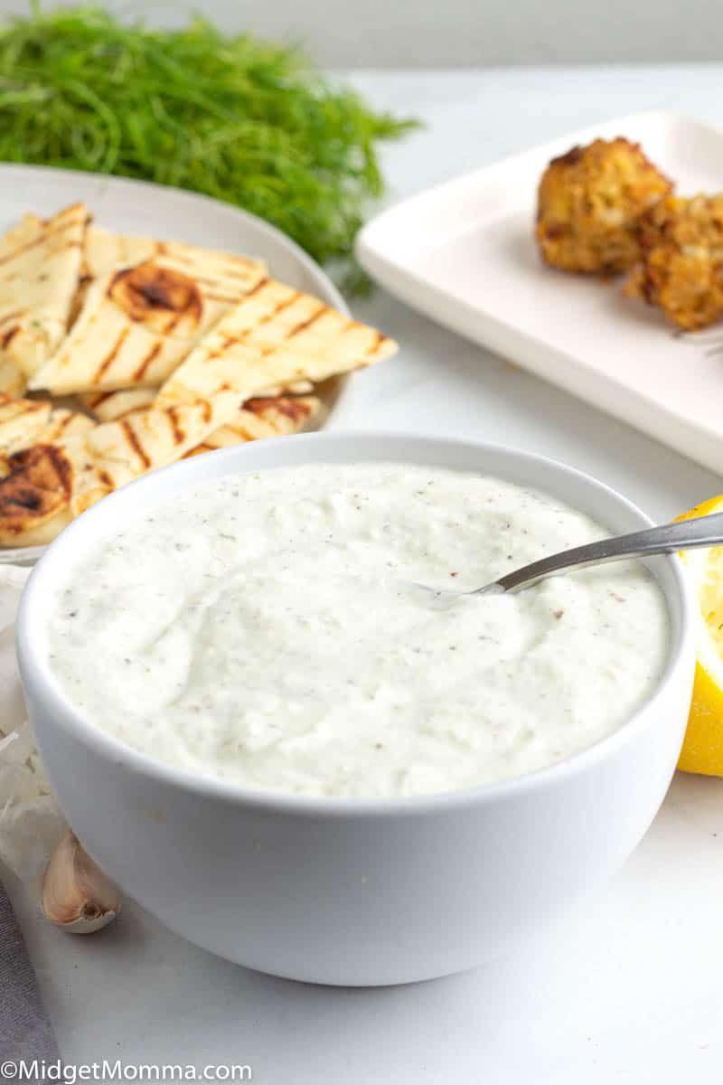 Best Tzatziki Sauce Recipe Made With Cucumber Sour Cream Greek Yogurt Garlic Lemon Juice A In 2020 Best Tzatziki Sauce Recipe Tzatziki Sauce Recipe Tzatziki Sauce