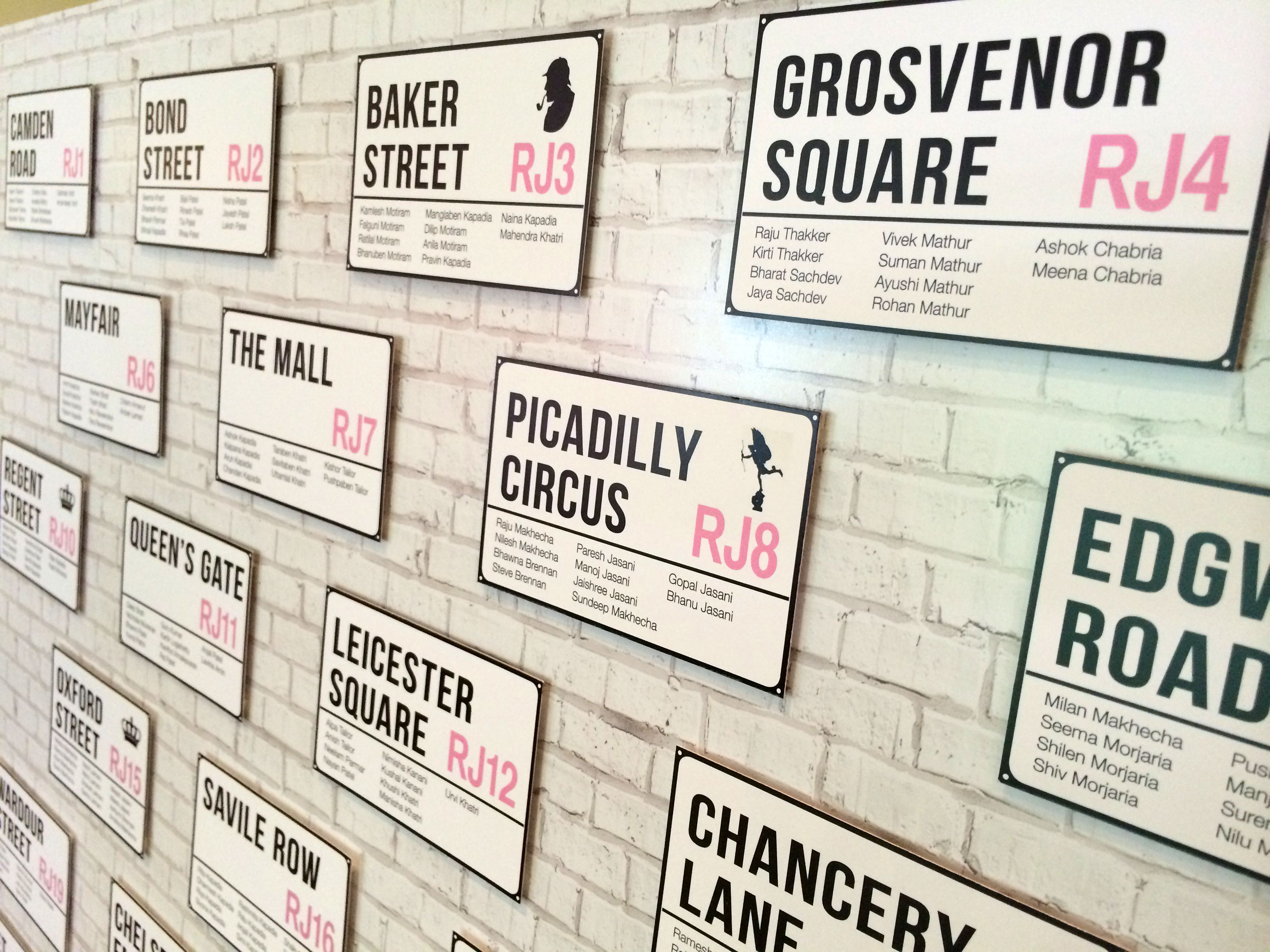 London Themed Wedding Seating Plan Board By Doves Peas