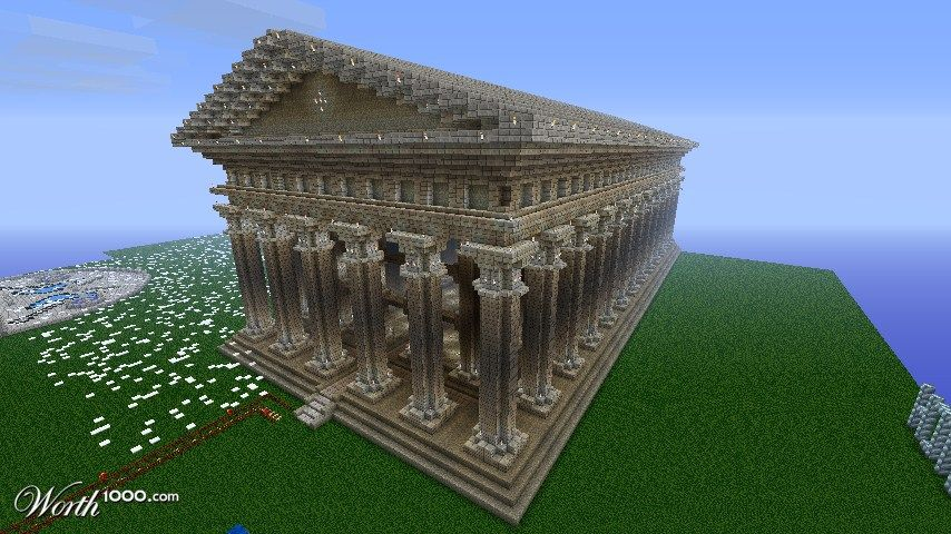 Minecraft Greek Statue Ancient Mythology With Images Minecraft