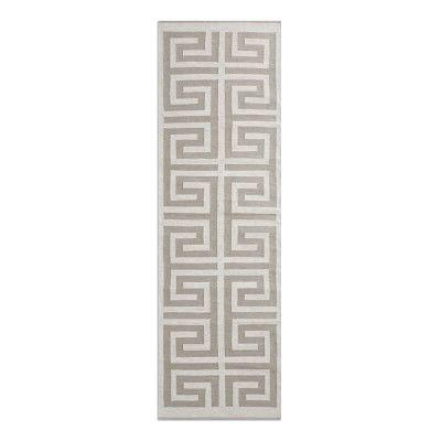 Perennials Greek Key Indoor/Outdoor Rug, 9x12\', Flax | Indoor ...
