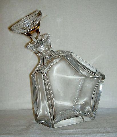 Art Deco Moser Karafka Szlifowana Plaszczyznowo 3838296907 Oficjalne Archiwum Allegro Bohemian Glass Deco Art Deco