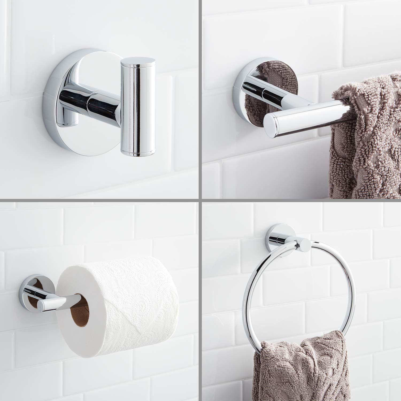 Steffin 4 Piece Bathroom Accessory Set Bathroom Hardware Sets