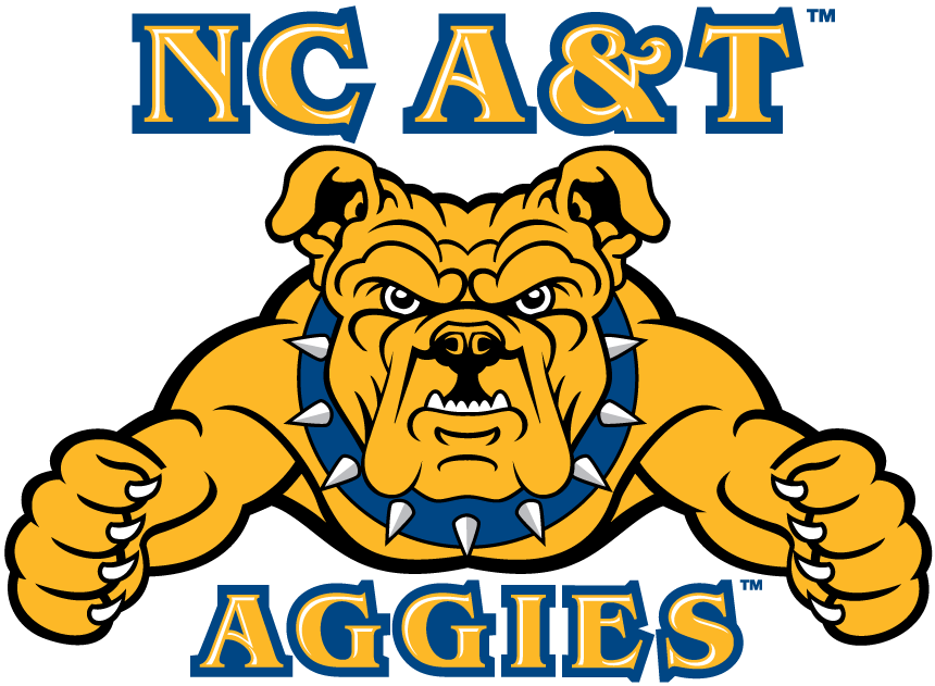 North Carolina A&T State University Aggies, NCAA Division I/Mid-Eastern  Athletic Conference, Gree…   University logo, Aggies, North carolina state  university campus