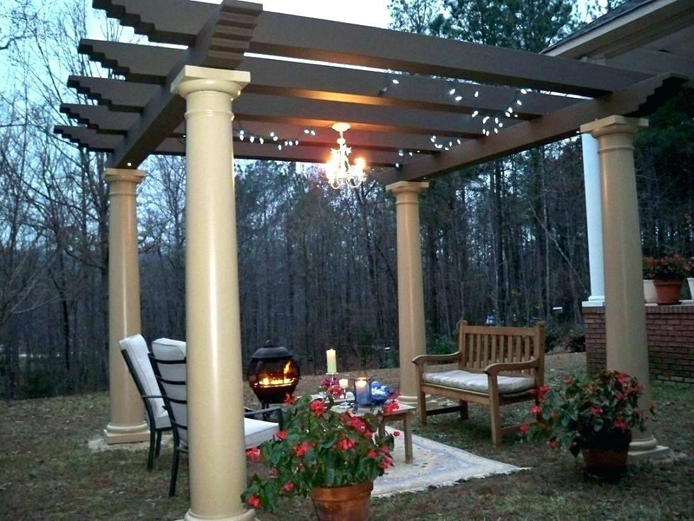 Options For Outdoor Gazebo Chandelier Lighting Ideas Pergola