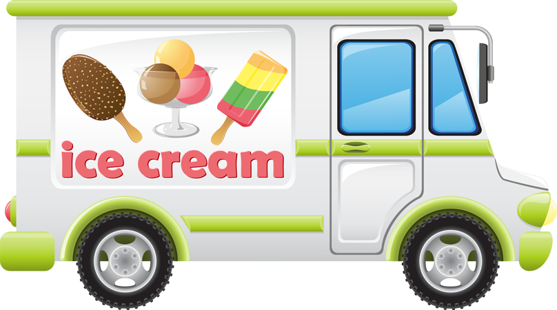 an ice cream truck clip art can be used in a children s story book rh pinterest com Ice Cream Sandwich free ice cream truck clipart