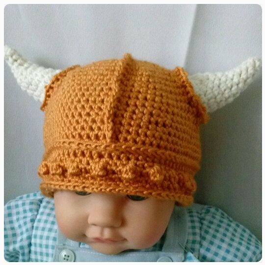 This adorable and awesome crocheted Viking helmet is the perfect way to keep warm and strike fear in the heart of your enemies