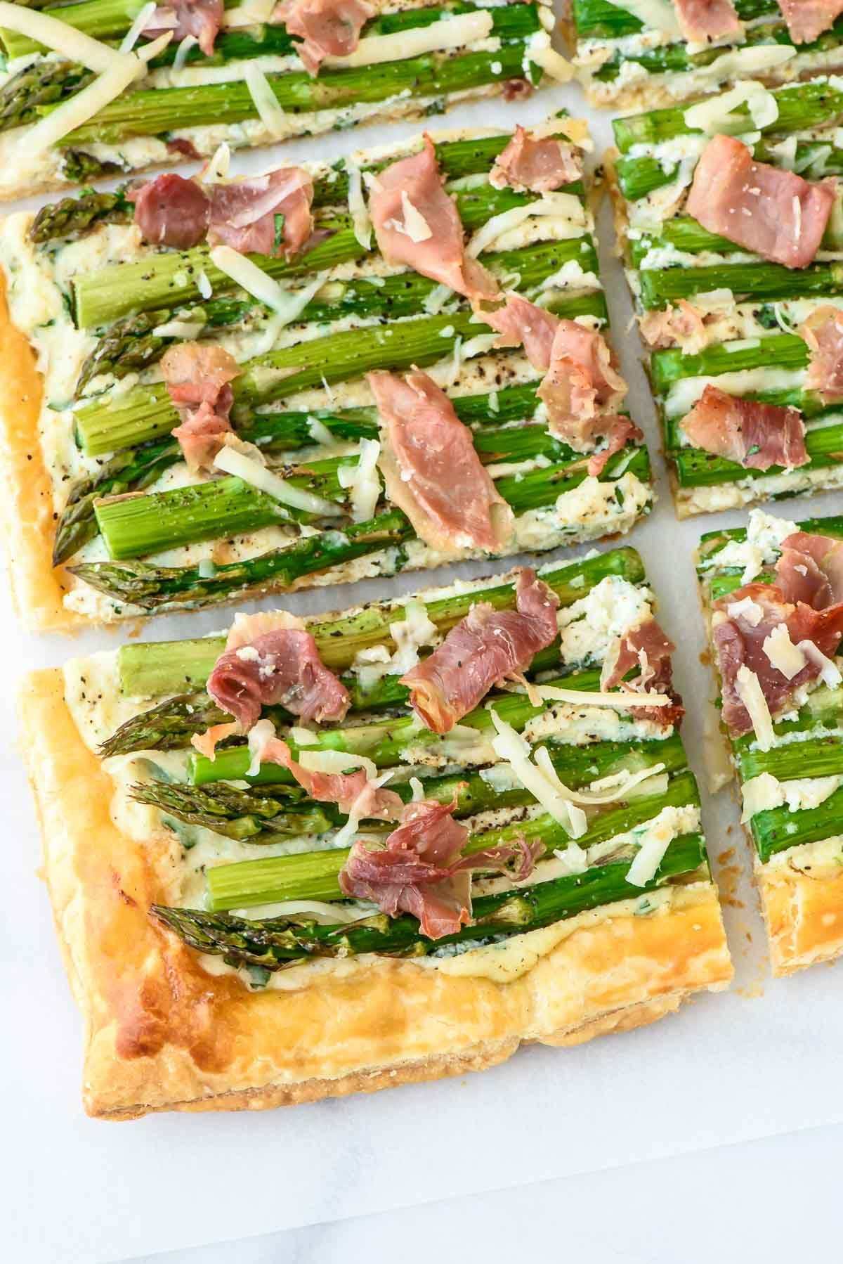 A Gorgeous Easy Asparagus Tart With Puff Pastry Ricotta
