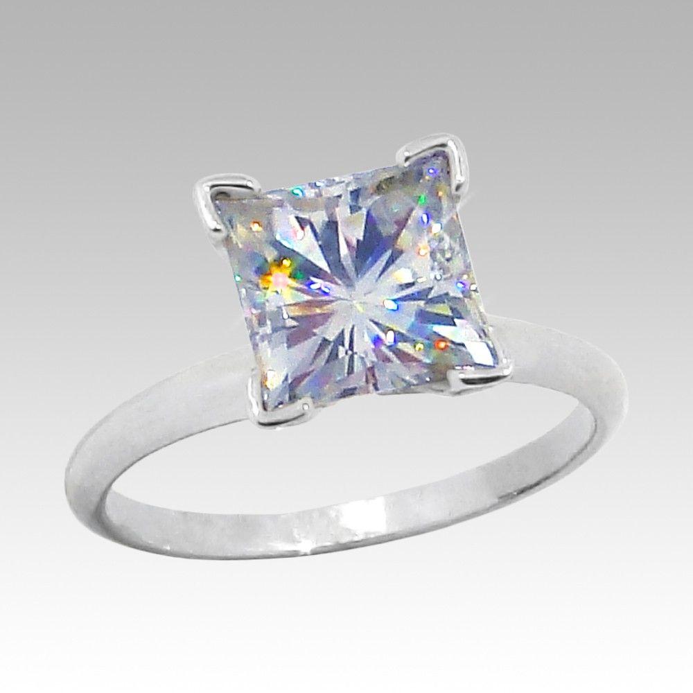 Squared Dimond Wedding Rings  Squarecutdiamondengagementring  Elegant