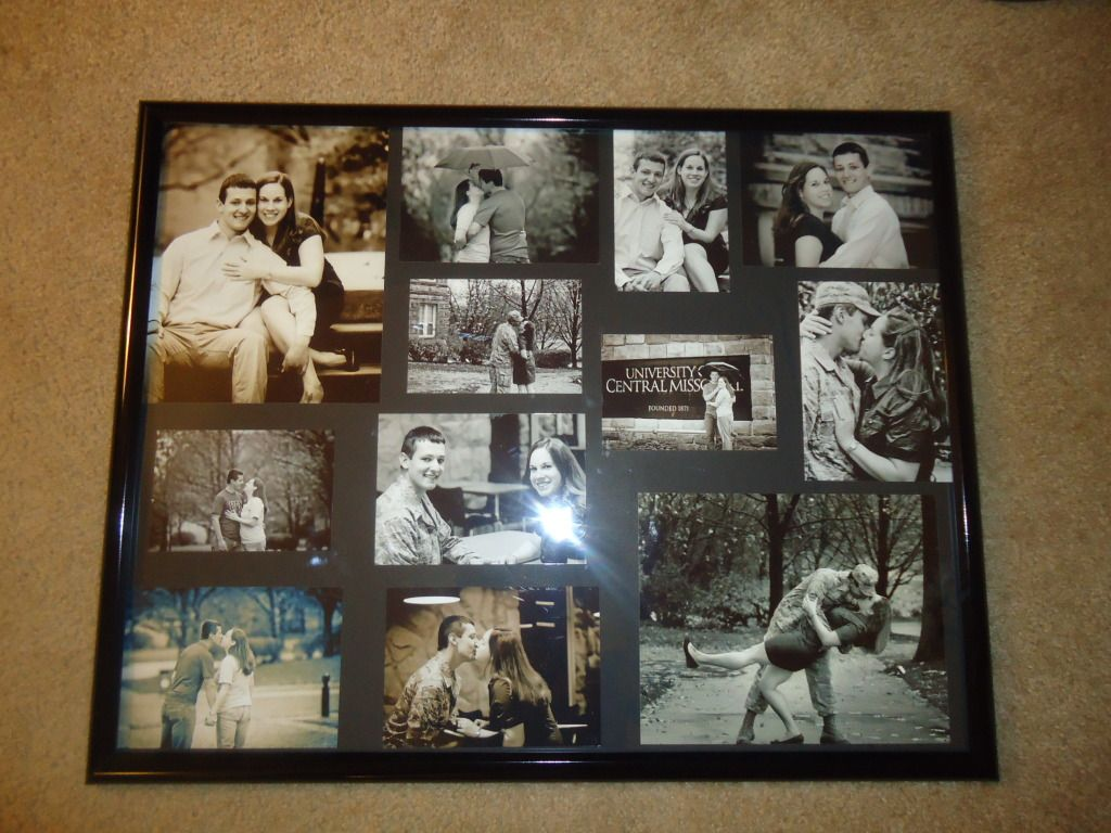 using black posterboard from hobby lobby an inexpensive frame from