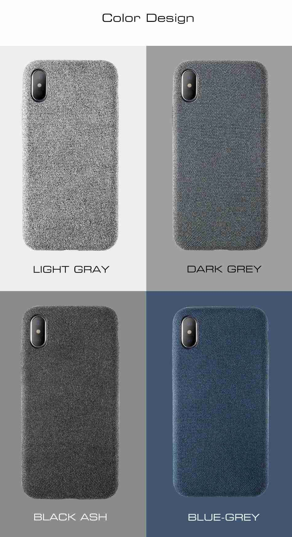 online store 95f14 904ea Cloth Patterned Fabric Texture Case For iPhone X Simple Vintage ...