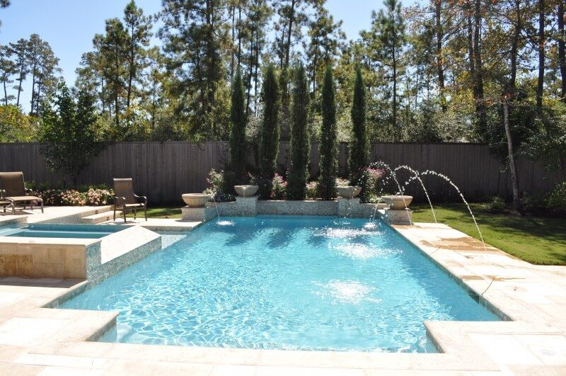 Water Feature Gallery Spring | The Woodlands Pool Features ...