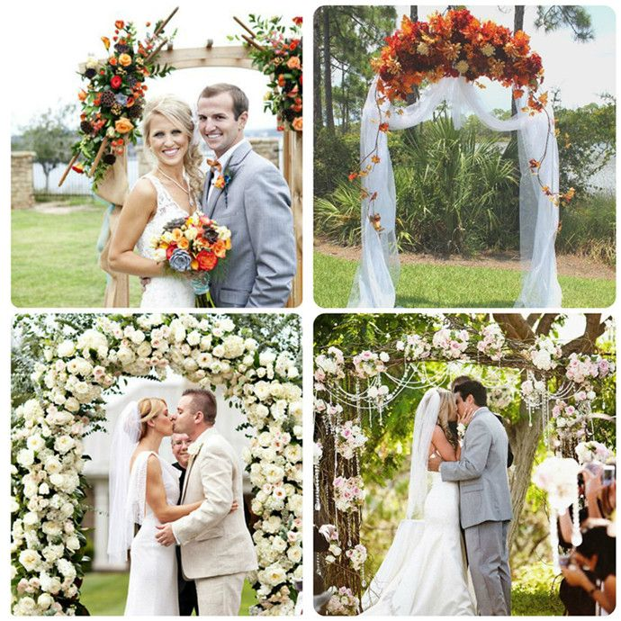 Outdoor Wedding Arches For Weddings: Wedding Arch Flowers For Outdoor Wedding