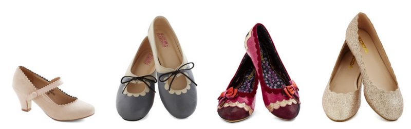 Shoes with scalloping for a wavy wonderful wedding day (including flats!)