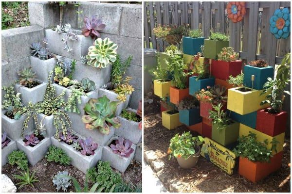 Cinder Block Planter Ideas For Your Garden