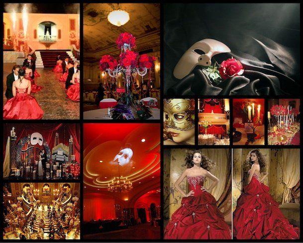 Phantom of the opera theme wedding | phantom of the opera ...