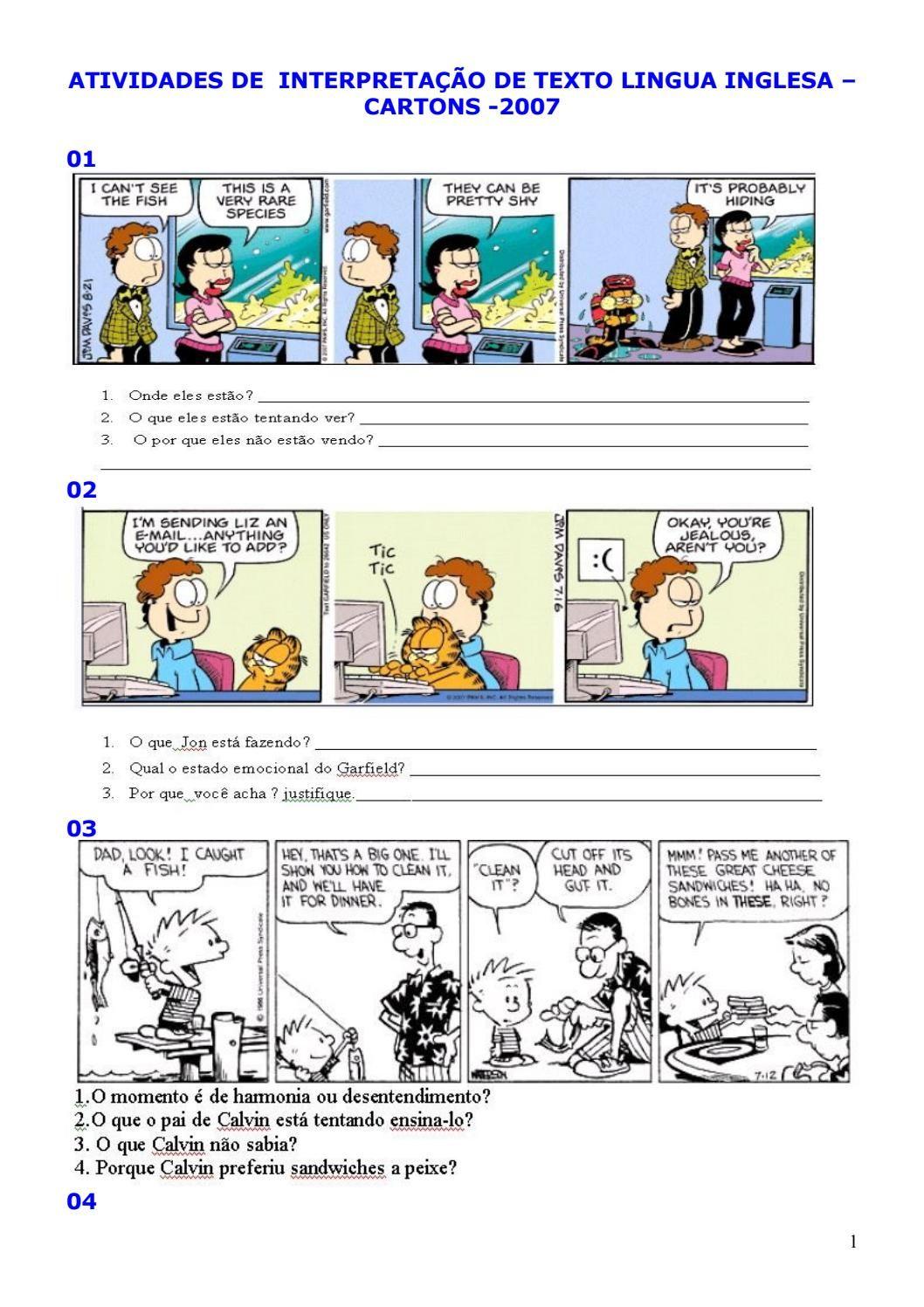 2074797 Interpretacao De Texto Ingles Cartuns2007 Interpretacao
