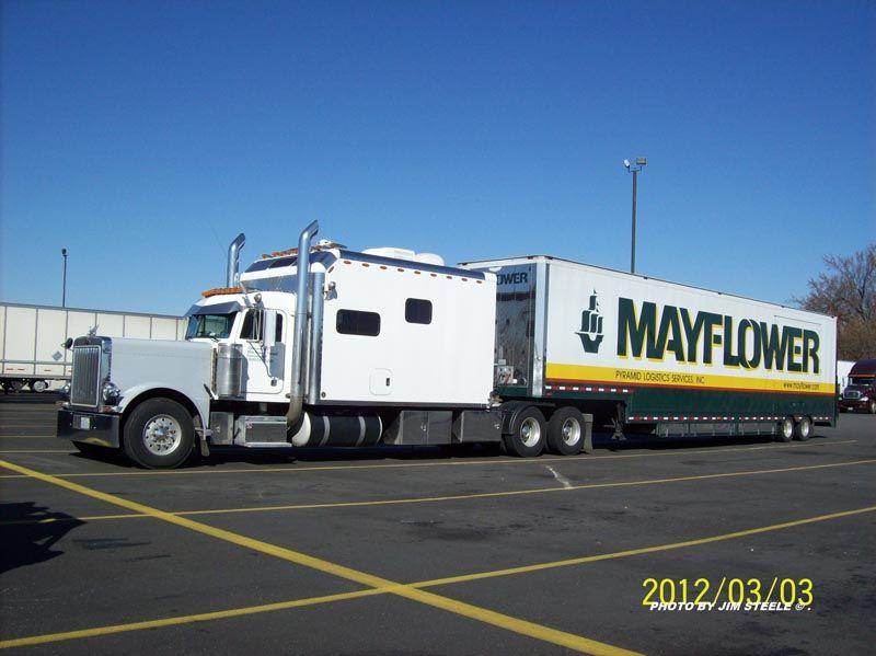 Mayflower Moving Vans Peterbilt Trucks Big Rig Trucks