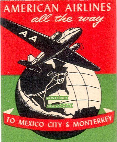 American Airlines Poster Vintage Travel Posters Vintage