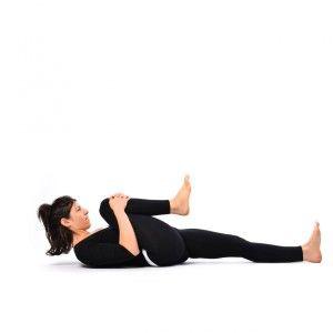 leg lock pose  supta pawanmuktasana  yoga exercise