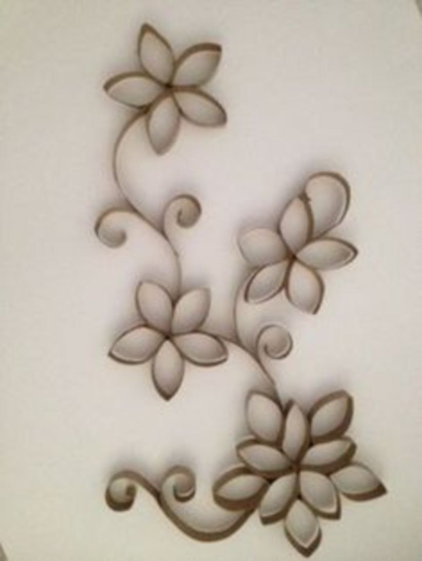 45 Diy Paper Roll Wall Art To Beautify Your Home Toilet Paper
