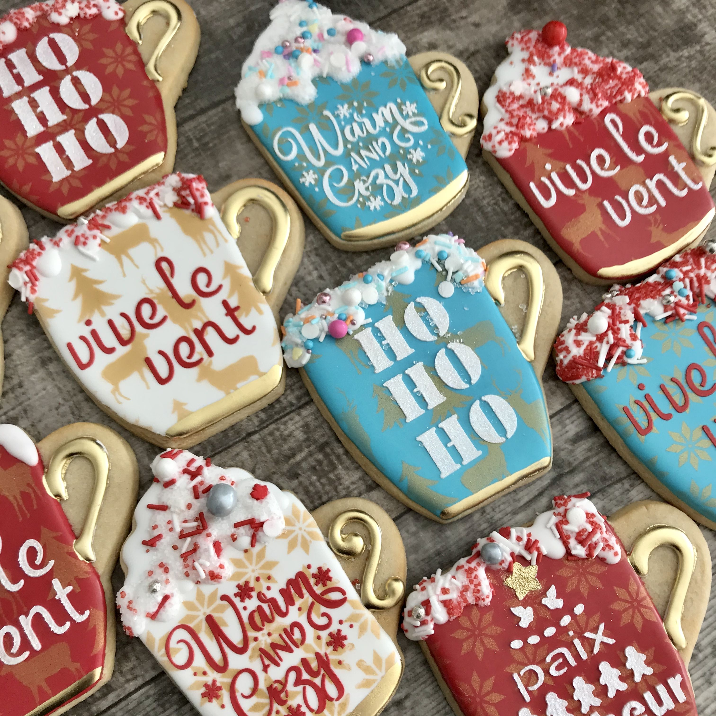 Christmas Decorated Latte Cups