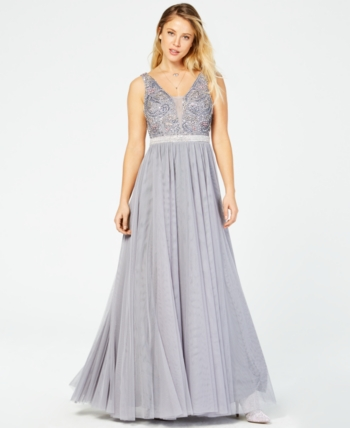 f628bada9 Say Yes to the Prom Juniors' Rhinestone Ballgown, Created for Macy's - Gray  11