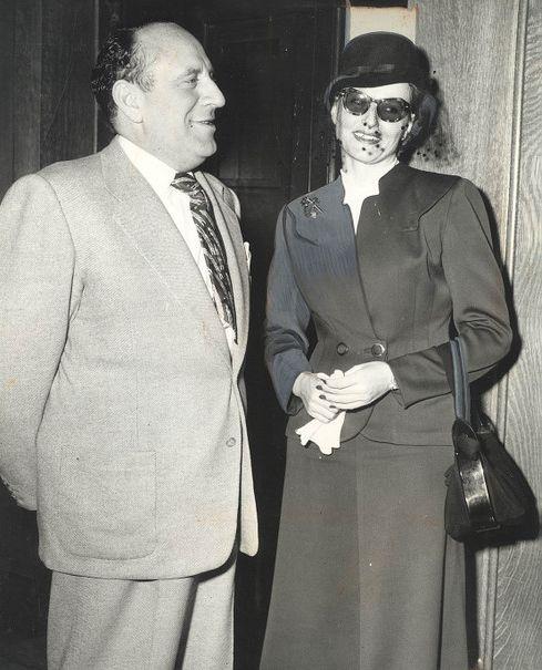 Brenda Allen With Her Attorney Max Solomon In 1949 Sunset Strip