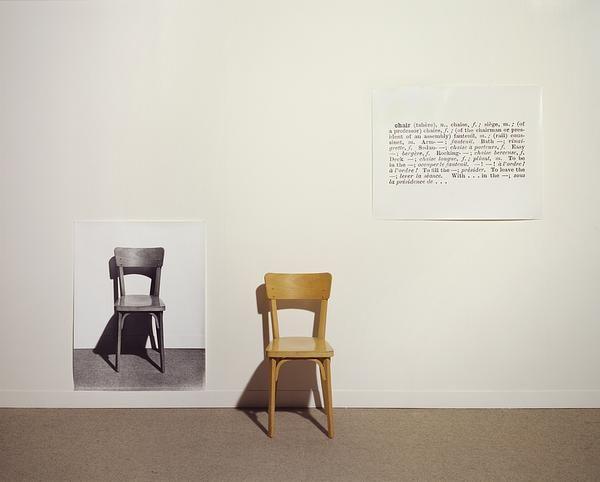 One And Three Chairs Joseph Kosuth Inventor Of Conceptual Art Usa 1965 Piece That Represents A Chair A Photogr Arte Conceptual Arte Ultimas Tendencias