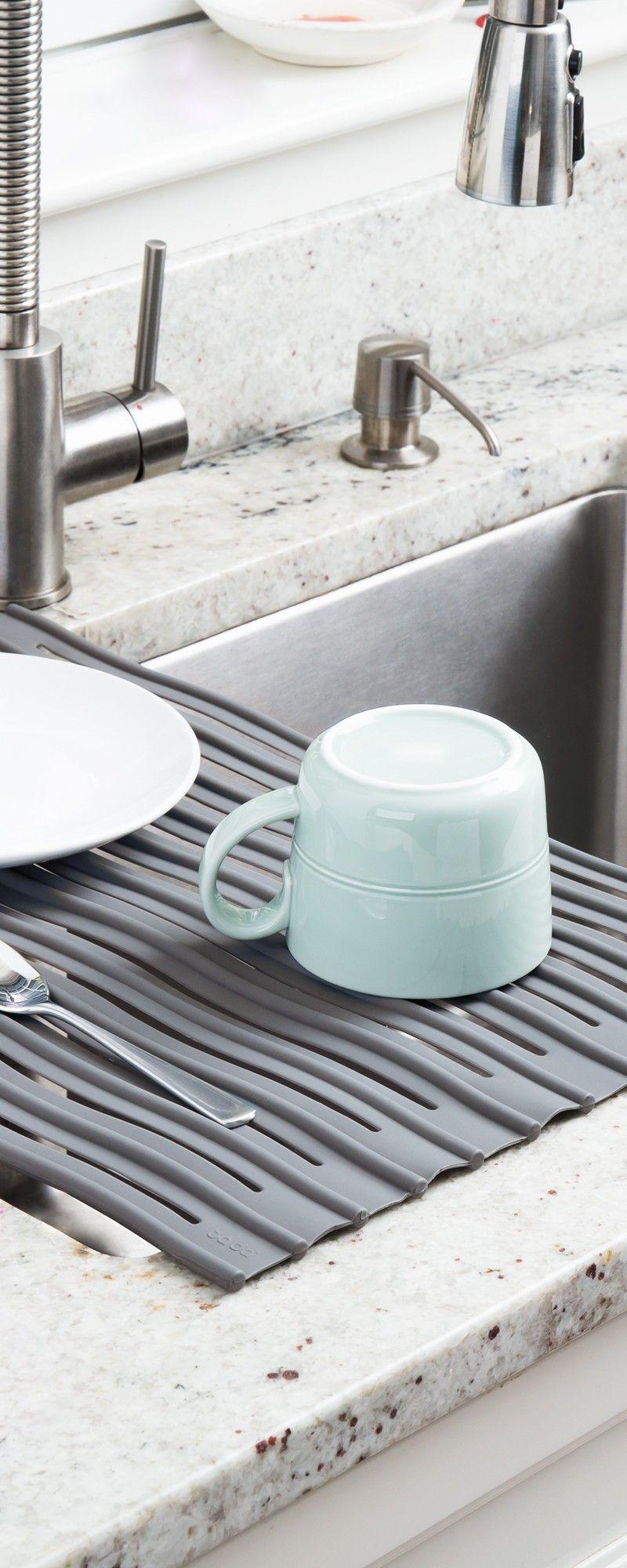 Ta Da Silicone Sink Protector Mat Ta Da Sink Protector Sink Mats Dish Racks