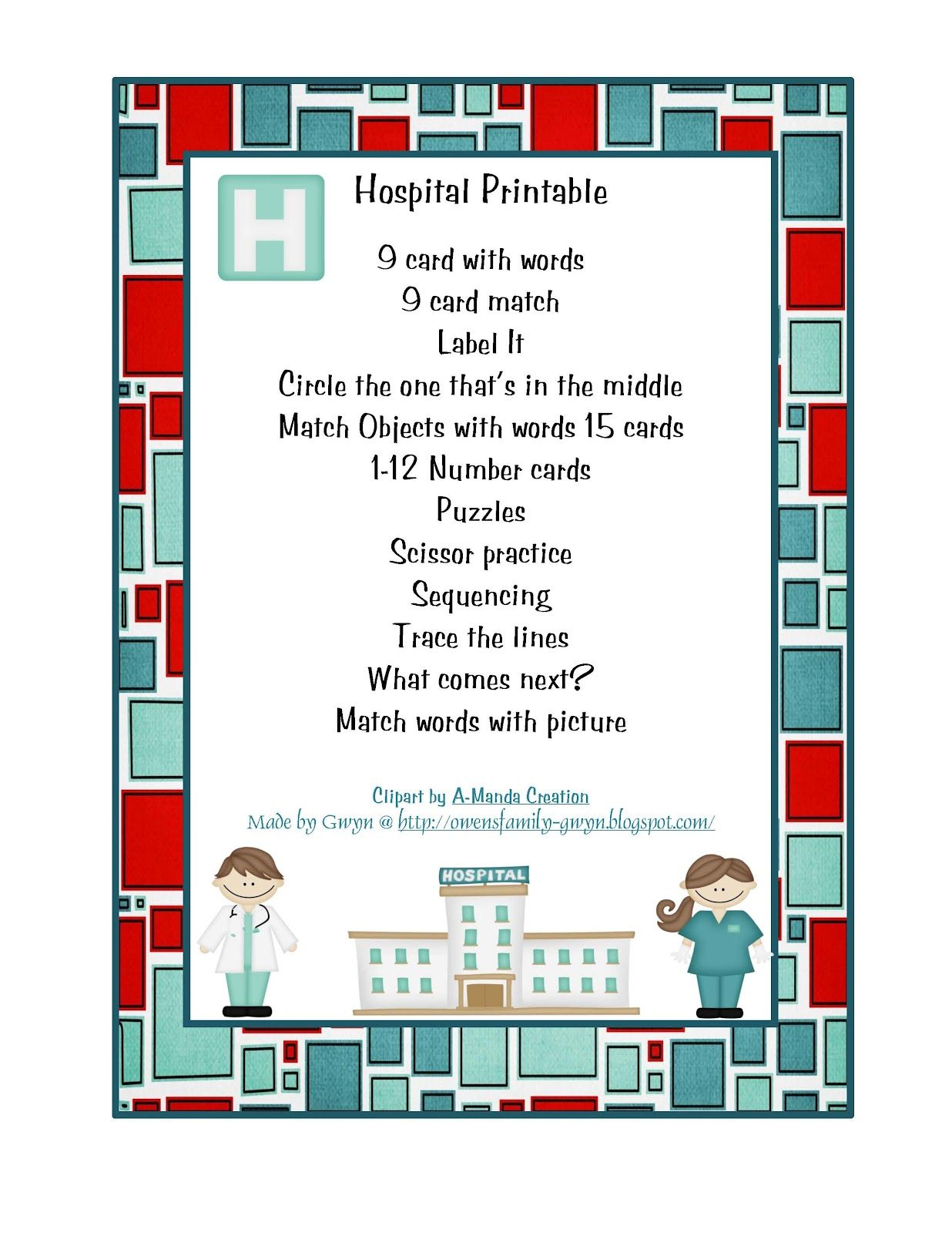 Community Helpers Unit Preschool Printables Community
