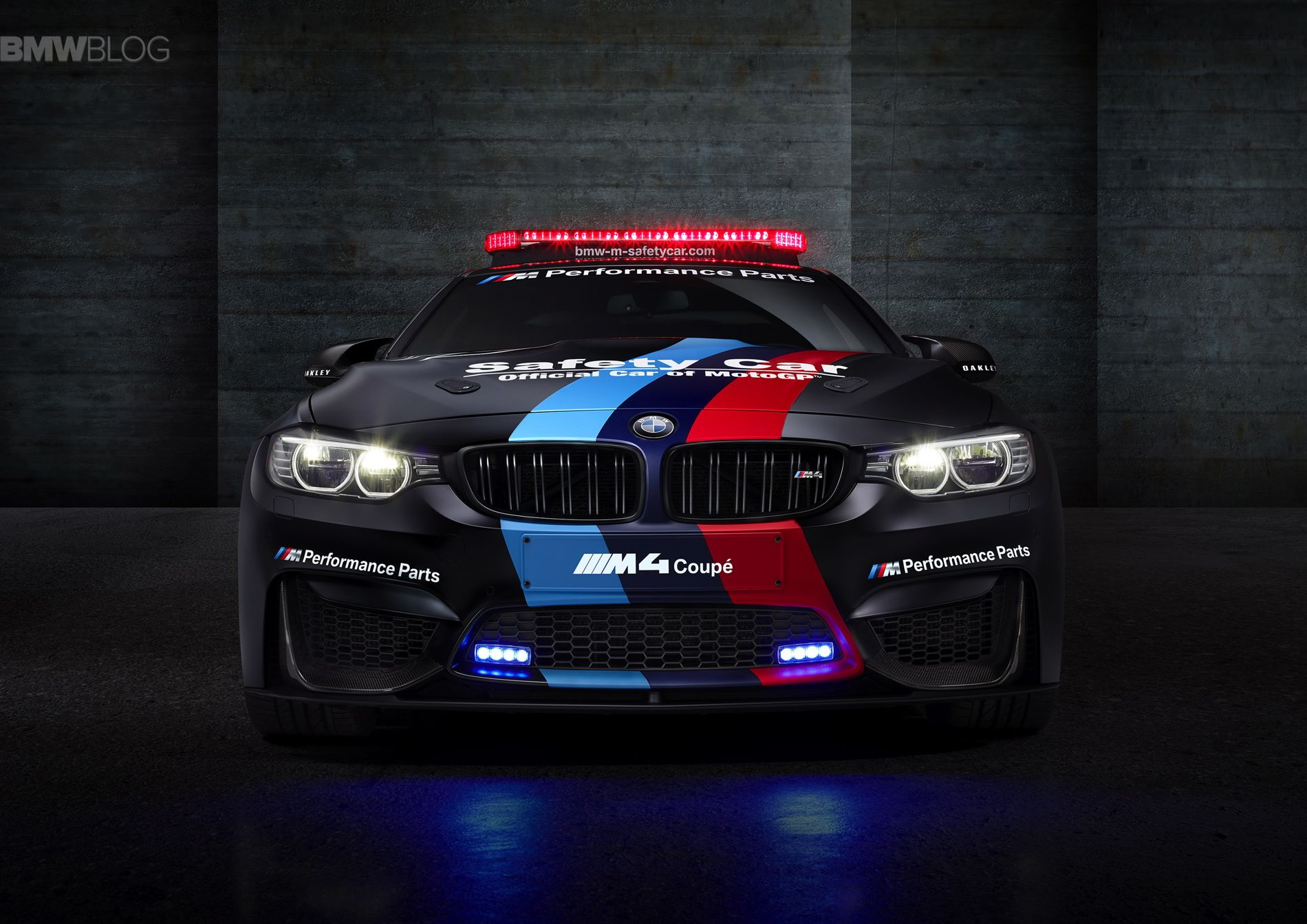 World Premiere BMW M4 MotoGP Safety Car with water